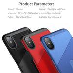Leather Case For iPhone X PU Card Slot Pocket Protective