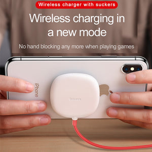 Spider Suction Cup Portable Fast Wireless Charger For iPhone XR XS Max Samsung Note 10 9 S9+ S8