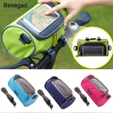 Waterproof Phone Holder Bike Bag & Touchscreen Capability for All Cell Phones