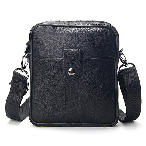 Business Men's Genuine Leather Messenger Bag