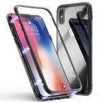 Magnetic Case for iPhone X XS Max XR 7 8 Plus + 1 Free Front Glass