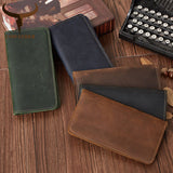 100% Top Cow Genuine Leather Leather Wallet Long Style High Quality