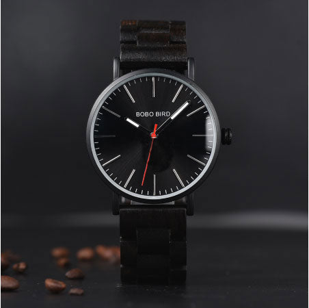 Top Brand Luxury Wood Strap Quartz Watch