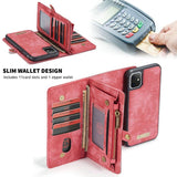 2 in 1 Multi Functional Zipper Wallet Phone Cover For iPhone 11 Pro Max