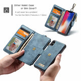 Multifunction Leather Case For iphone X 8 7 6 6s 6Plus