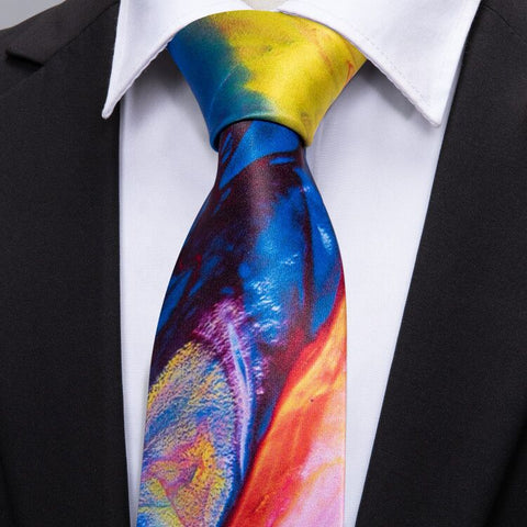 Mens Wedding Colorful Silk Tie