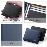 100% Cowhide Leather Luxury Multi-functional Bifold Wallet