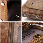 Crazy Horse Cowhide Genuine Leather Men Wallets