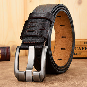 Genuine leather cowskin luxury designer belts for male