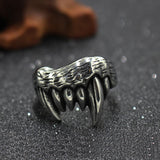 Devil Teeth Punk Gothic Ring