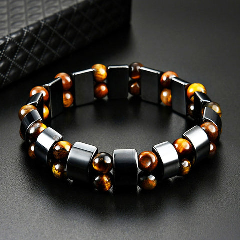 Double Hematite Tiger's Eye Bracelets Men & Women