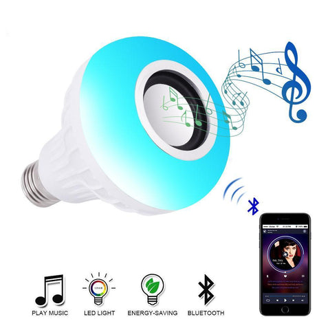 Bluetooth LED Light Bulb Speaker