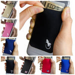 Elastic Lycra Cell Phone Wallet Case Credit ID Card Holder Pocket Stick On 3M Adhesive Universally fits most Cell Phone