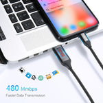 LED Display Lighting USB Cable For iPhone X XS Max 8 Plus iPad