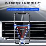 Triangle Gravity Mirror Car Phone Holder 360 Rotation