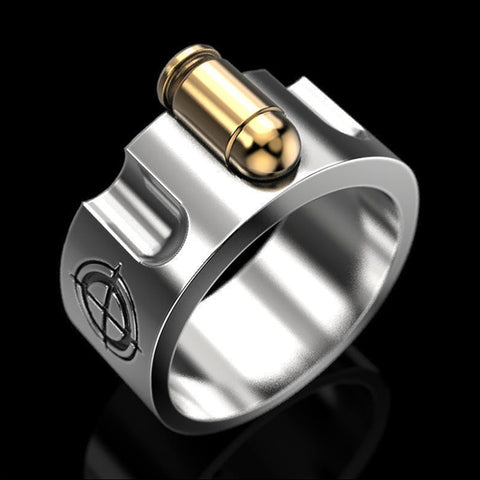 Fashion Creative Hip Hop Military Fan Men Ring