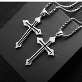 Punk Fashion Cross Necklace For Men Women