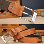 Men High Quality Fashion Denim Casual Canvas Belt Patchwork Strap