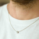 Fashion New 26 Letters Pendant Simple Stainless Steel Silver Chain Necklace For Men Women