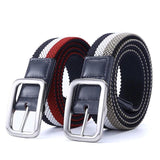 Newest Fashion Luxury Gentleman Elastic Reversible Canvas Belt