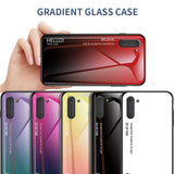 Gradient Tempered Glass Luxury Case For Samsung Galaxy Note 10 Note 10 Plus