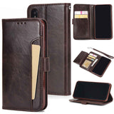 For iPhone XS XS Max 8 Plus Phone Case Business Wallet Credit Card Slots