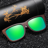 Handmade Natural Bamboo Wooden Photochromic Polarized Sunglasses