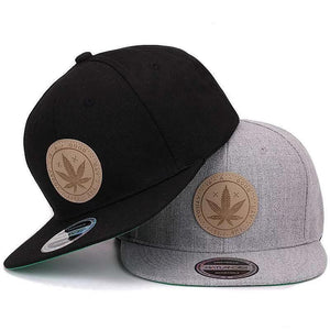Maple Solid Cotton Flat Brim Hip Hop Snapback Cap
