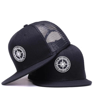 High Quality Cool Hip Hop Embroidery Fashion Original Black Adjustable Fitted Caps