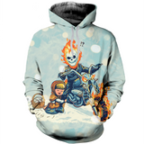 The Little Match Girl and Ghost Rider Hoodie, T-Shirt, Sweater