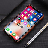 Stitching Soft PU Leather Back Case for iPhone X 7 8 Plus With Card Pocket