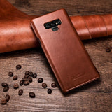High Quality Handmade Genuine Vintage Leather Case For Galaxy Note 9