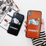 Snoopys phone case for iPhone X XR XS Max 6 6S 7 8 Plus