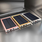 Hot Solar 20000mAh Power Bank External Battery 2 USB LED