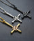 Inverted Cross Pentagram Stainless Steel Pendant Necklace