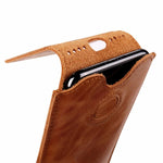 Handmade Genuine Leather Phone Pounch Vintage For iPhone X
