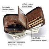 100% Genuine Leather Rfid Wallet