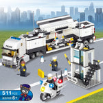 KAZI 6727 Police Station Building Blocks Bricks