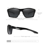 Impact Resistance TR90 Men's Sunglasses Polarized Lens UV400 Protection