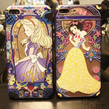 Snow White Mermaid Cute Case 3D Relief Cartoon Hard PC Phone Back Cover Case For iPhone