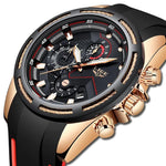 Top Luxury Brand Unique Sport Date Clock Waterproof Multifunctional Quartz Wristwatch Shock Resistant