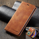 Leather Flip Card Slot Coque Case For iphone XS XS Max XR
