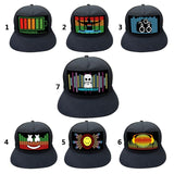 Light Up Sound Activated DJ LED Flashing Hat With Detachable Screen For Man Woman