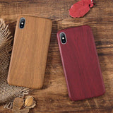 Wood Grain PU Case Cover For Iphone X XS XR XS Max 6 6S 7 7plus 8 Plus