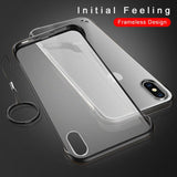 Frameless Design With Ring Phone Case For iPhone X XR XS Max 6 6s 7 8 Plus