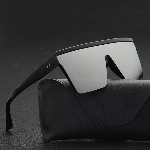 Black Square Shades UV400 Gradient Sunglasses For Men Cool One Piece Design