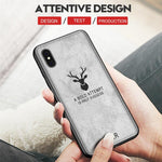 Leather Case for iPhone X XS XS Max Cloth Texture