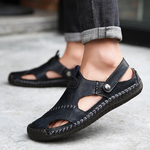 Men Sandals 2020 Summer Casual Leather