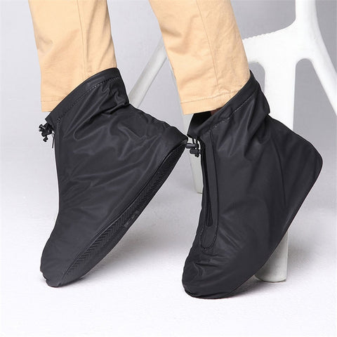PVC Reusable Non slip Shoes Covers for Rain Flats Ankle Boots With Internal Waterproof Layer
