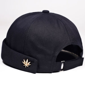 2020 Leaf Rivet Embroidery Men Women Casual Skullcap Hat